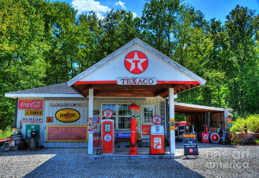 Mobil Gas Card >> Old Texaco Station Photograph by Mel Steinhauer