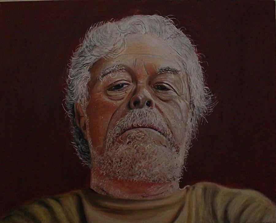 Portraits Pastel - Old Texan by Patricio Lazen