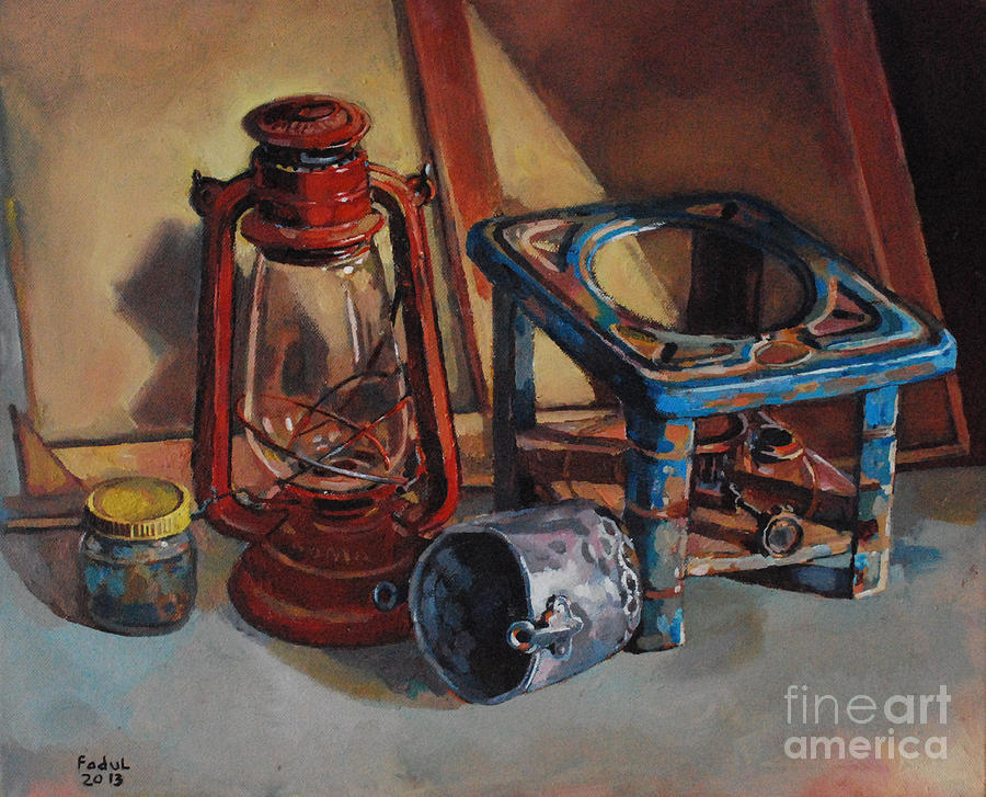 Old Things Painting - Old Things by Mohamed Fadul
