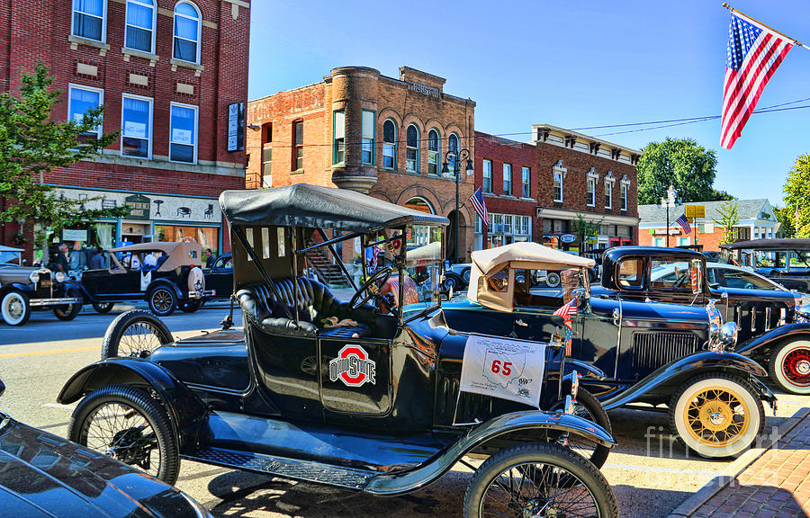 Old Time Car Rally Historical Vehicles Grand Rapids Ohio 0528 ...
