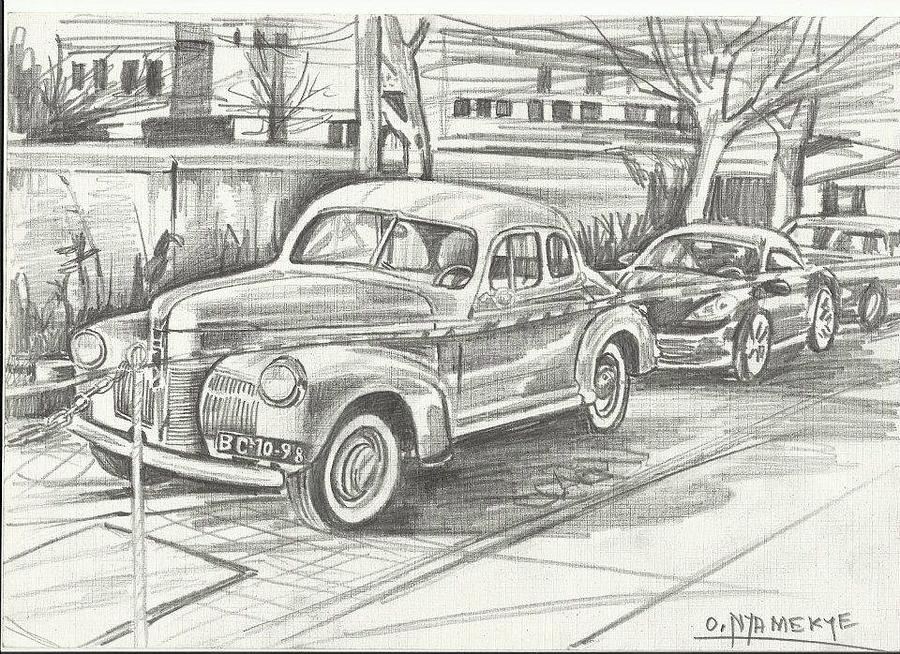 Old Time Cars Painting by Odei Nyamekye