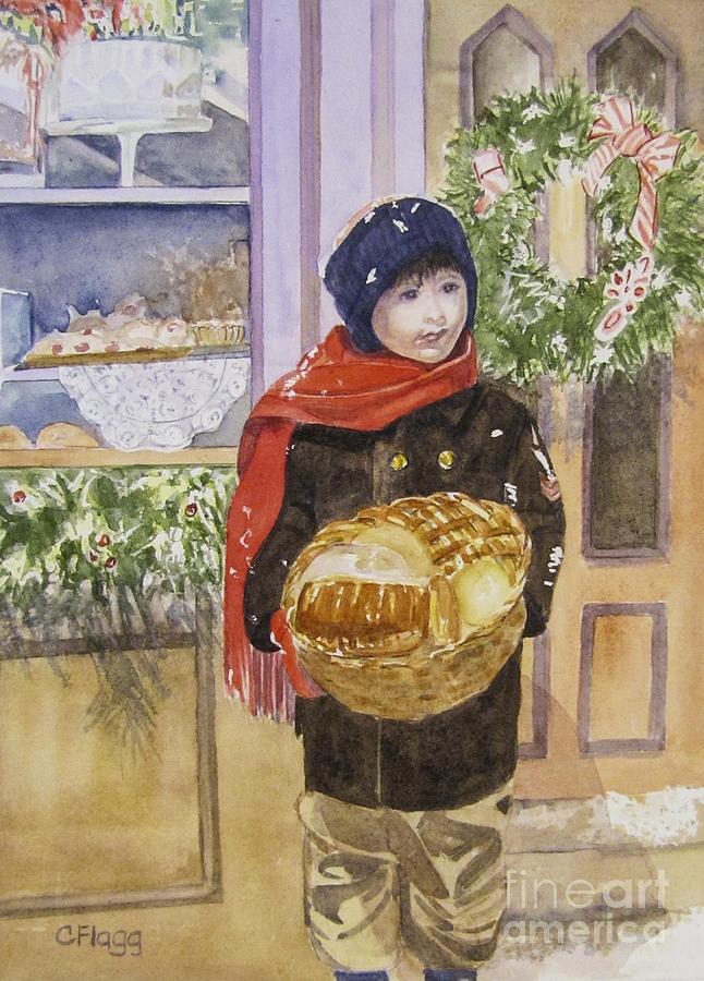 Christmas Painting - Old Time Christmas by Carol Flagg