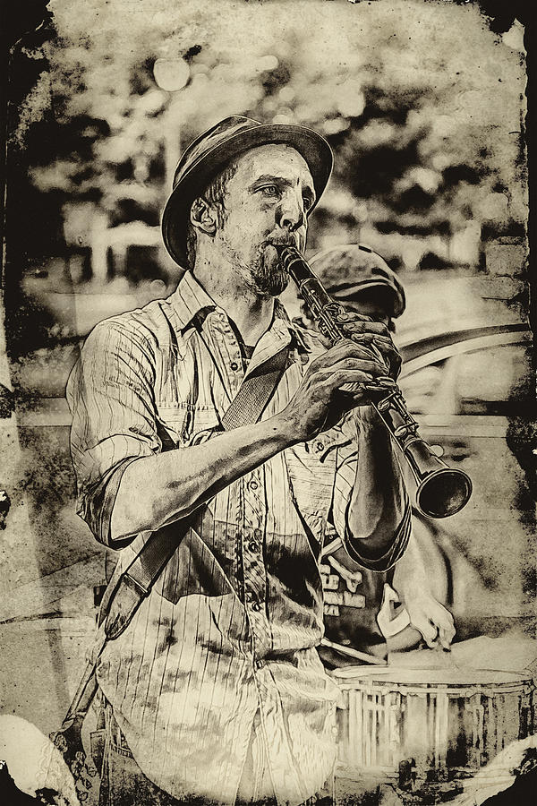 Buskers Photograph - Old Time Clarinet Music by John Haldane