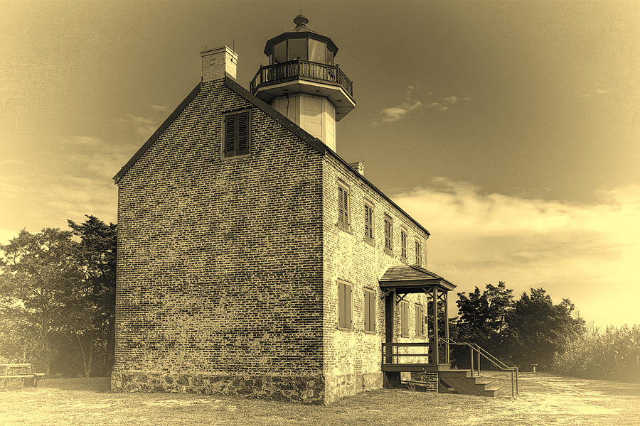 Joan Carroll Photograph - Old Time East Point Light by Joan Carroll