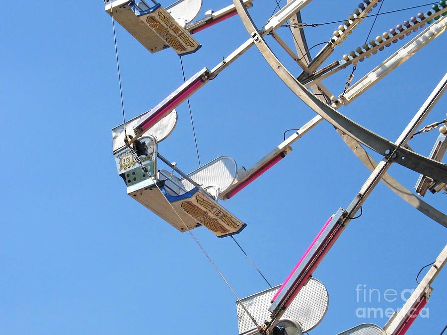 Ferris Wheel Photograph - Old Time Ferris Wheel by Ann Horn