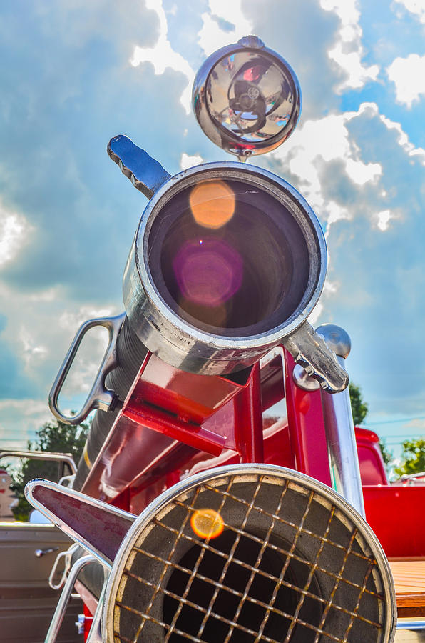 Red Photograph - Old Time Fire Truck Series by Kelly Kitchens