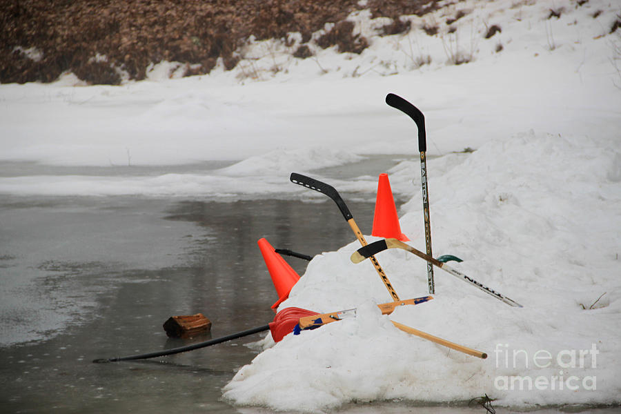Ice Hockey Photograph - Old Time Hockey 1 by Michael Mooney