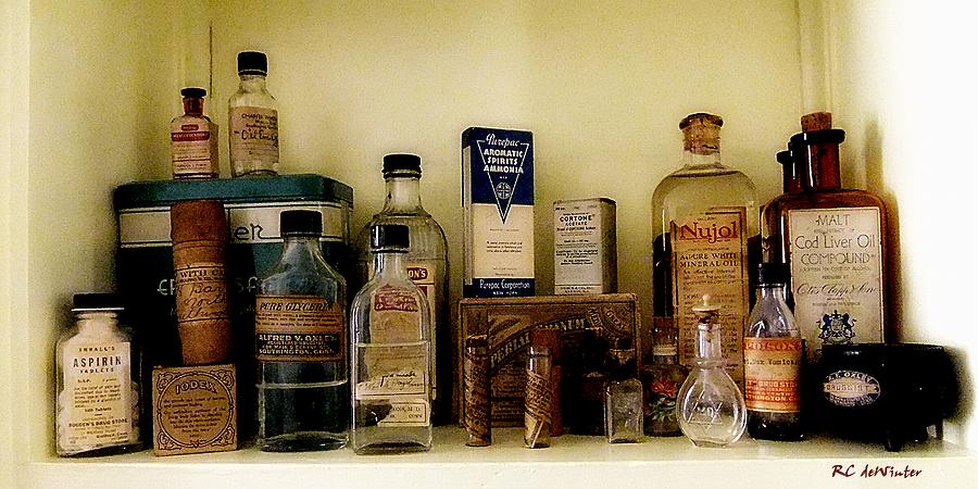 Still Life Painting - Old-time Remedies by RC deWinter