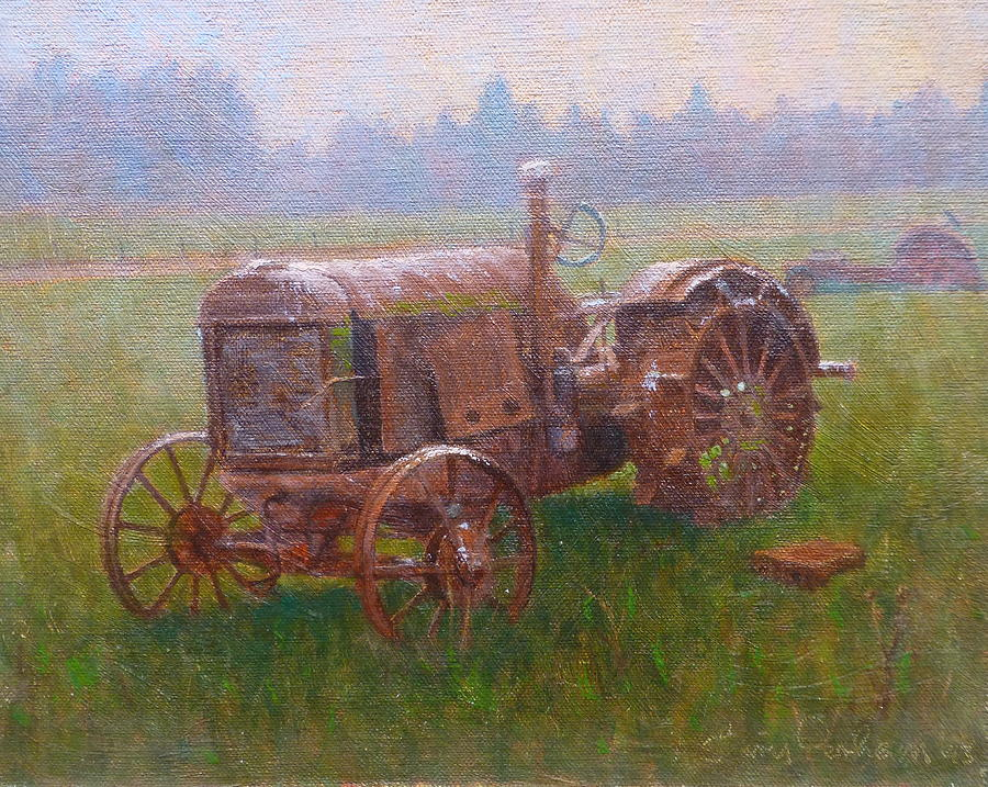 Landscape Painting - Old Timer Canterbury by Terry Perham
