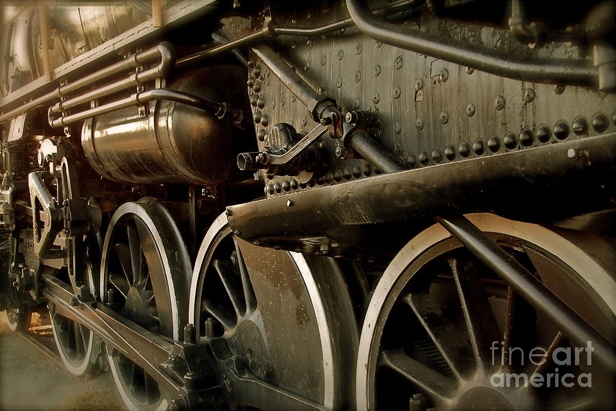 Train Photograph - Old Timer by Rick  Monyahan