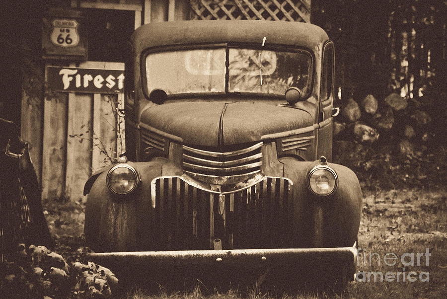 Old Truck Photograph - Old Times by Alana Ranney