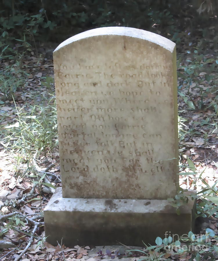 Cemetary Photograph - Old Tombstone  by Cathy Lindsey