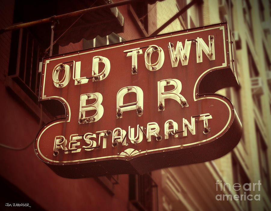 Old Town Bar Digital Art - Old Town Bar - New York by Jim Zahniser