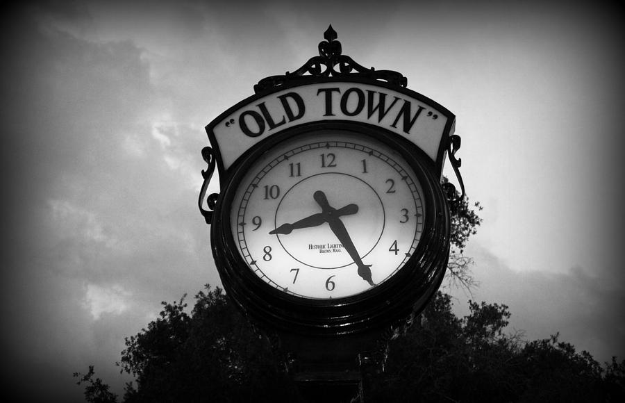 Clock Photograph - Old Town Clock by Laurie Perry