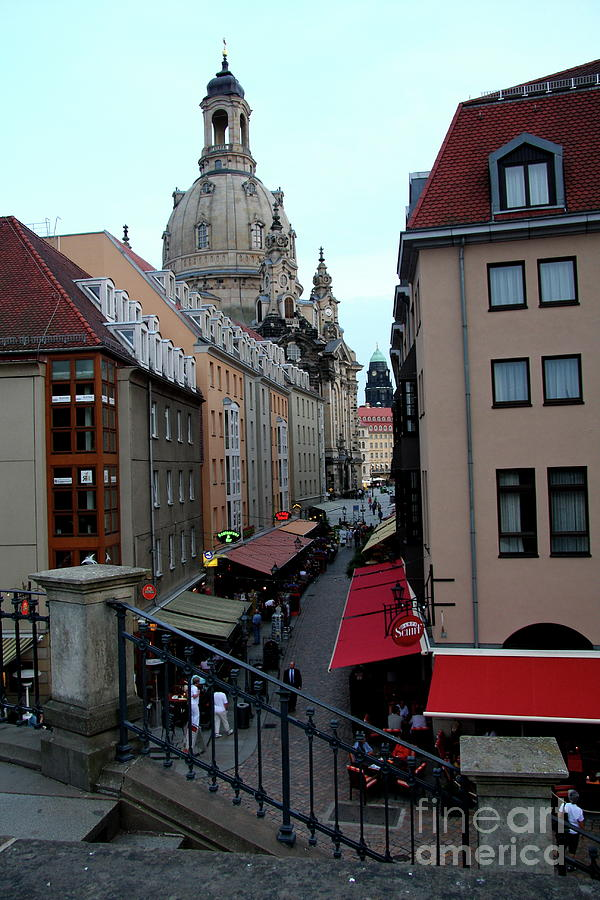 Alley Photograph - Old Town Dresden by Christiane Schulze Art And Photography
