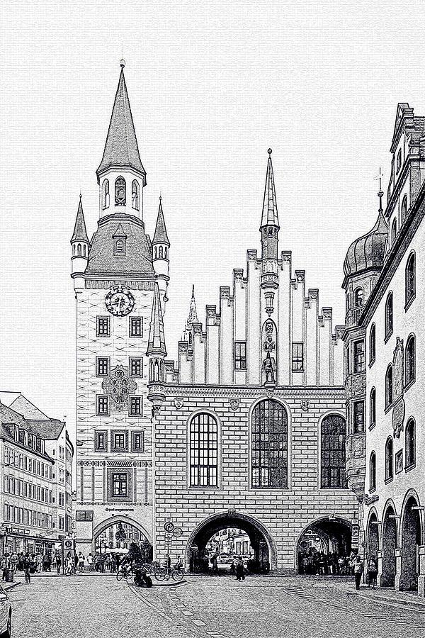 City Photograph - Old Town Hall - Munich - Germany by Christine Till