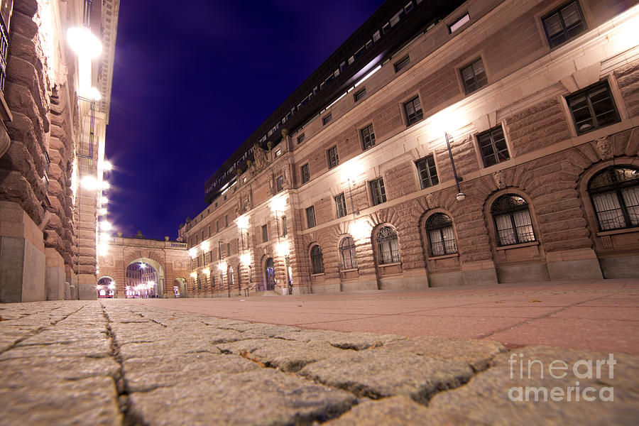 Old Town In Stockholm At Night Photograph