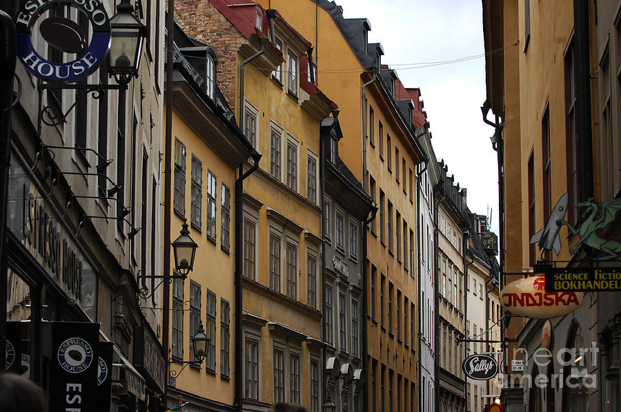 Cobblestone Photograph - Old Town In Stockholm Sweden by Micah May