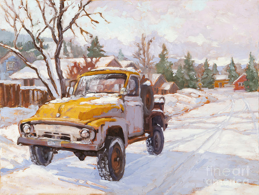 Old Truck Painting - Old Town Ride by Chula Beauregard