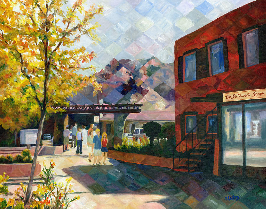 Town Painting - Old Town Sedona by Colleen Ward