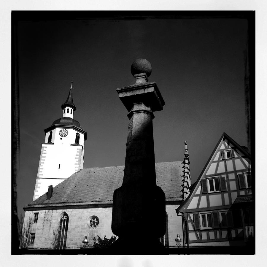 Church Photograph - Old town Waldenbuch in Germany by Matthias Hauser