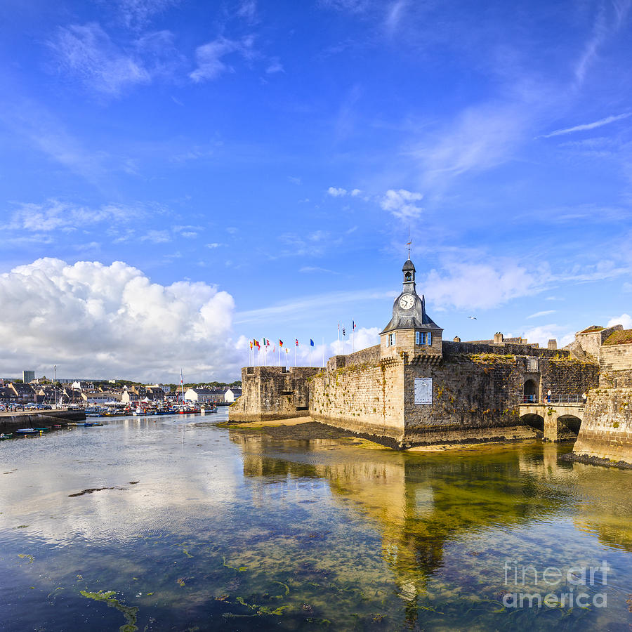 Belfry Photograph - Old Town Walls Concarneau Brittany by Colin and Linda McKie