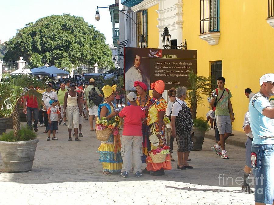 Jimmy Buffett Photograph - Old Towne Havana Street Scene by Desiderata Gallery