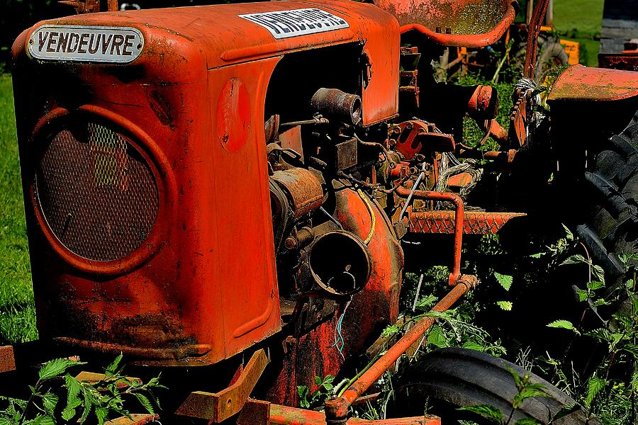 Vintage Photograph - old tractor Vendeuvre by Patrick Pestre