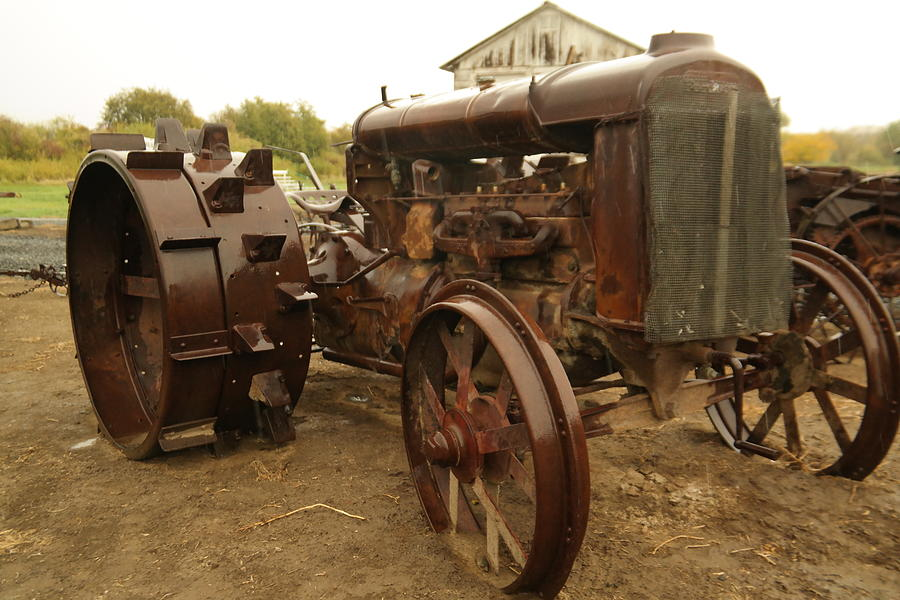 Steel Wheels For Tractors : Old tractor with steel wheels photograph by jeff swan