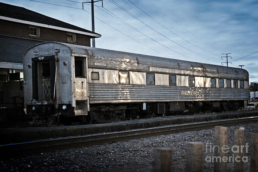 Train Photograph - 1898 - Old Train Car by Nikki Vig