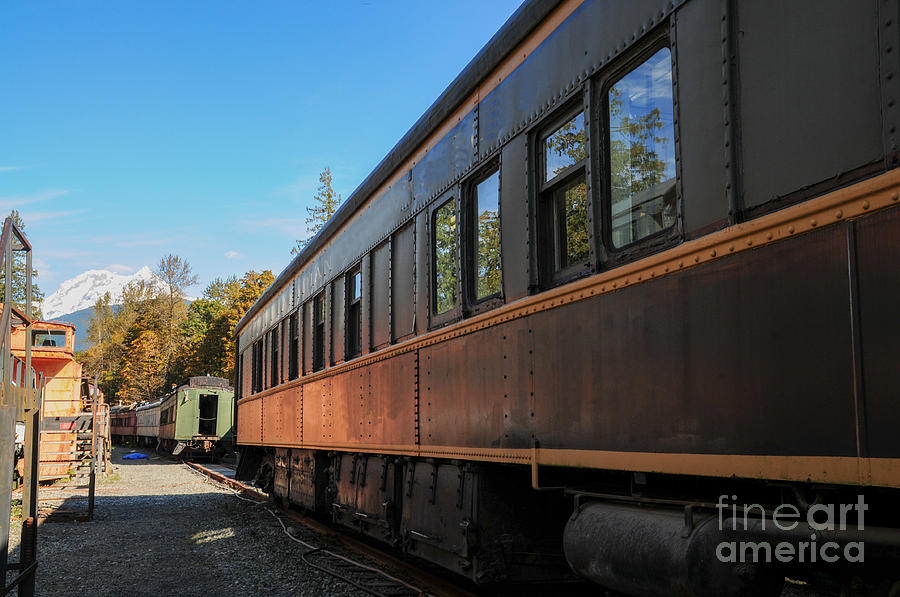 British Columbia Photograph - Old Train Coach by Malu Couttolenc