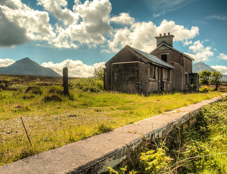 Clouds Photograph - Old Train Station by Craig Brown