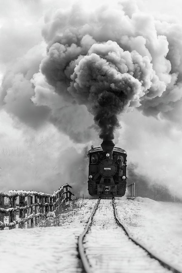 Steam Photograph - Old Train by Sveduneac Dorin Lucian