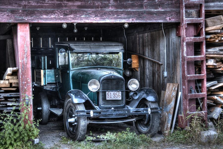 Old Truck in the Shed by Donald Williams