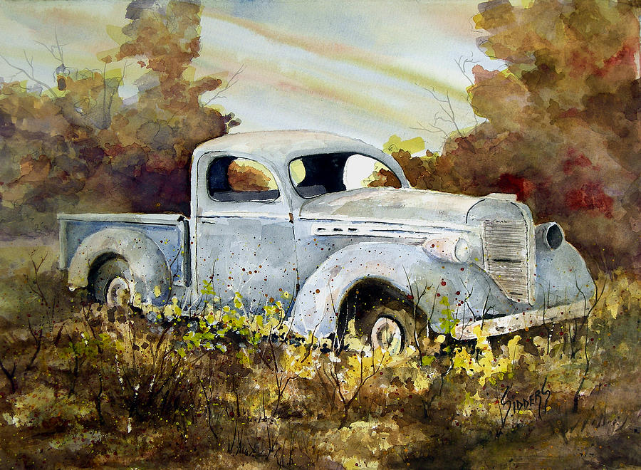 Truck Painting - Old Truck by Sam Sidders