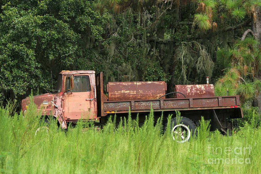Rusty Truck Photograph - Old Truck by Theresa Willingham