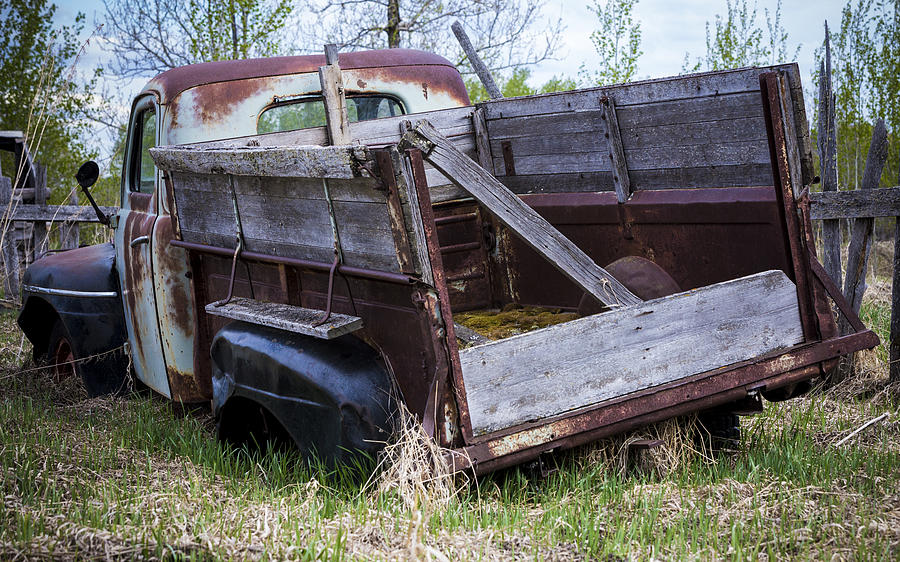 Abandoned Photograph - Old Truck With Moss by Gerald Murray Photography