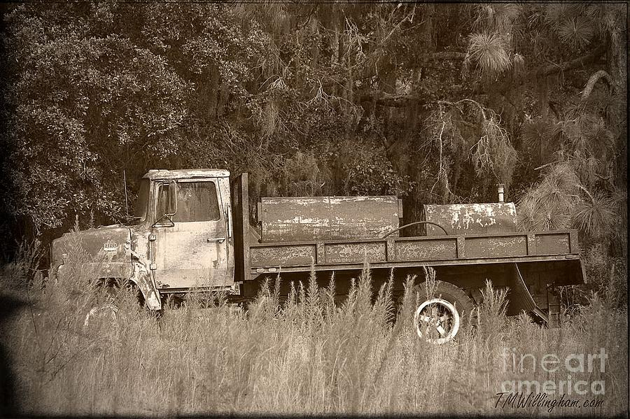 Old Truck Photograph - Old Tyme Truck by Theresa Willingham