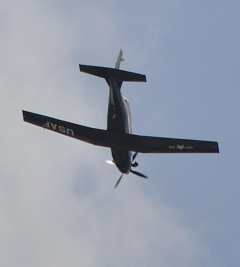 Usaf Photograph - Old Usaf Prop Plane by Stefon Marc Brown