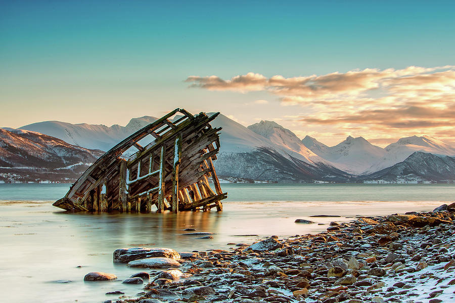 Old Viking Shipwreck In Tisnes Near Photograph by Daniel Osterkamp