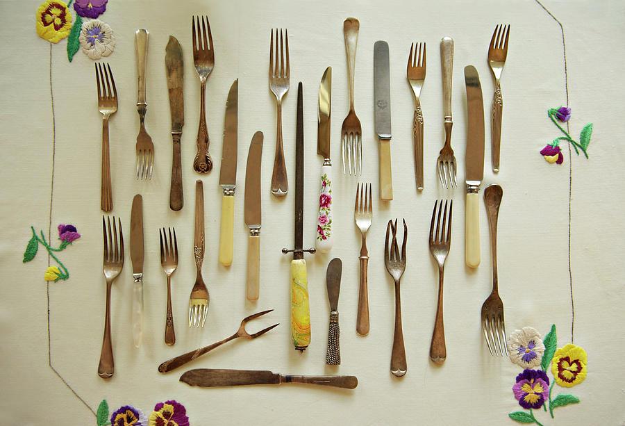 Old Vintage Knives & Forks Photograph by Sharon Lapkin
