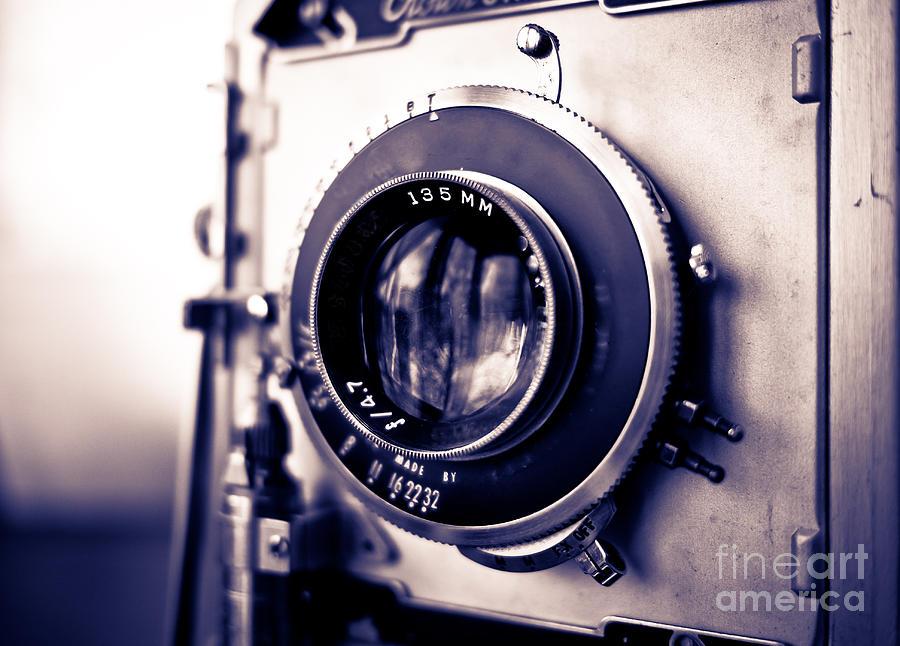 Old Photograph - Old Vintage Press Camera  by Edward Fielding
