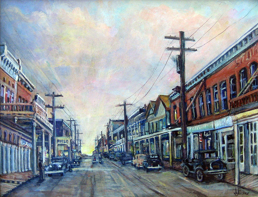 Acrylic Painting - Old Virginia City by Donna Tucker