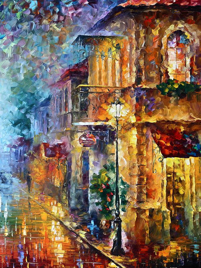 Afremov Painting - Old Vitebsk Part 2 - Right by Leonid Afremov
