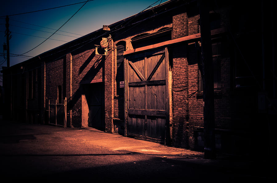 Georgetown Photograph - Old Warehouse Building At Night In Georgetown Seattle by Brian Xavier
