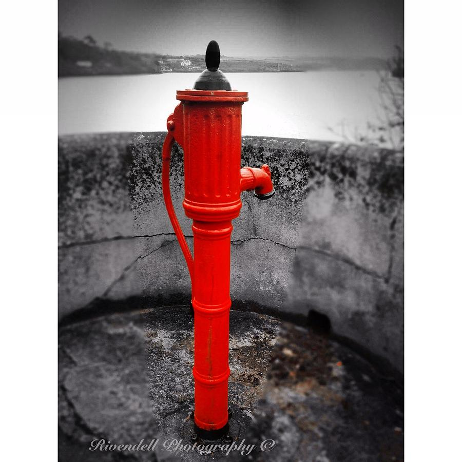 Canvas Prints Photograph - Old Water Pump Kinsale by Maeve O Connell