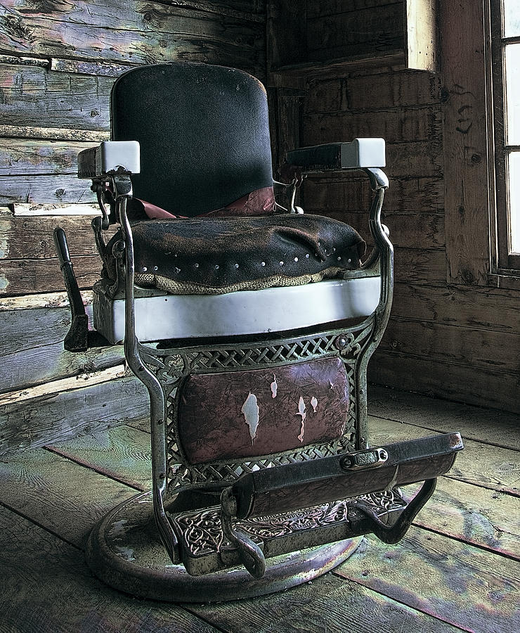 Old West Barber Chair Photograph By Daniel Hagerman
