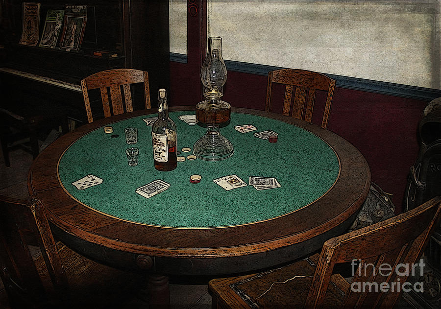 West Photograph   Old Western Poker Table By Janice Pariza