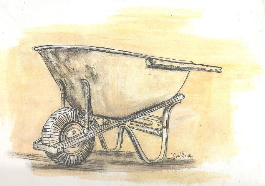 Old Wheelbarrow by Callie Smith