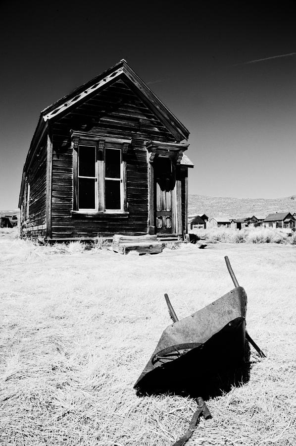 Old Photograph - Old Wheelbarrow by Cat Connor